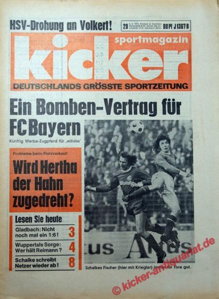 Kicker Sportmagazin Nr. 29, 4.4.1974 bis 10.4.1974