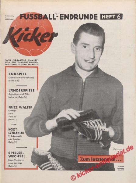 Kicker Nr. 25, 22.6.1959 bis 28.6.1959