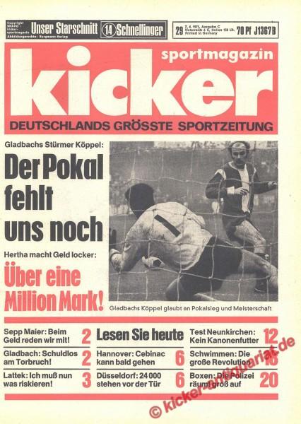 Kicker Sportmagazin Nr. 29, 7.4.1971 bis 13.4.1971