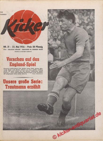 Kicker Nr. 21, 22.5.1956 bis 28.5.1956