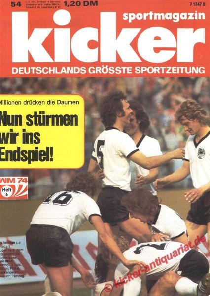 Kicker Sportmagazin Nr. 54, 1.7.1974 bis 7.7.1974