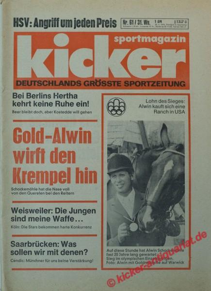 Kicker Sportmagazin Nr. 61, 29.7.1976 bis 4.8.1976