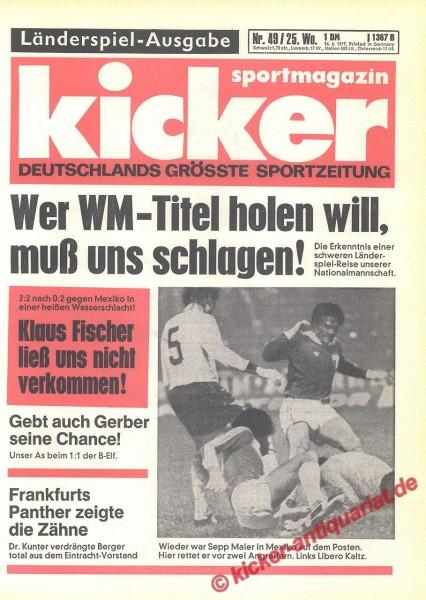 Kicker Sportmagazin Nr. 49, 16.6.1977 bis 22.6.1977