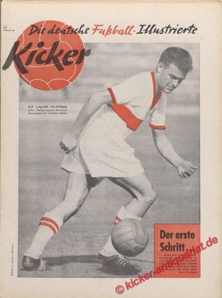 Kicker Nr. 31, 4.8.1958 bis 10.8.1958