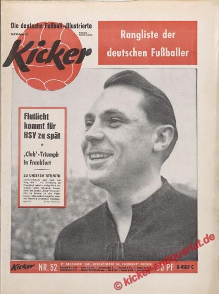 Kicker Nr. 52, 25.12.1960 bis 31.12.1960