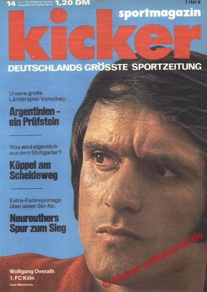 Kicker Sportmagazin Nr. 14, 12.2.1973 bis 18.2.1973