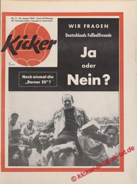 Kicker Nr. 3, 19.1.1959 bis 25.1.1959