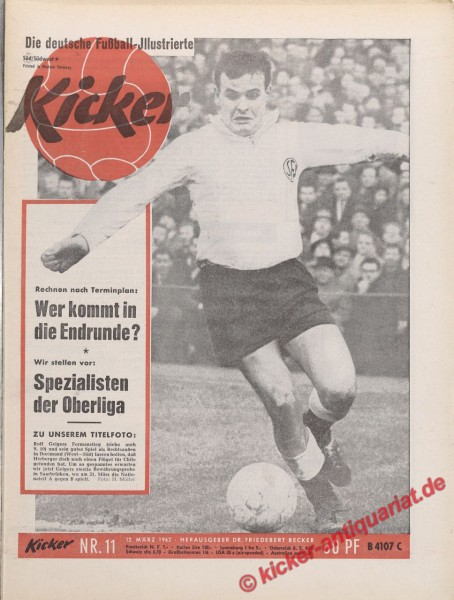 Kicker Nr. 11, 12.3.1962 bis 18.3.1962