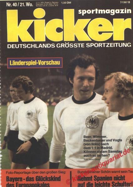 Kicker Sportmagazin Nr. 40, 17.5.1976 bis 23.5.1976