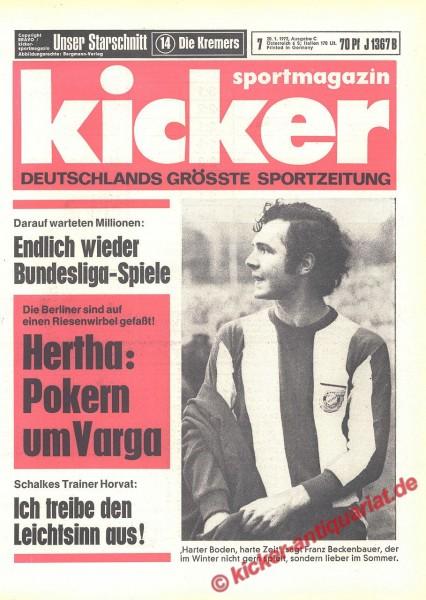Kicker Sportmagazin Nr. 7, 20.1.1972 bis 26.1.1972