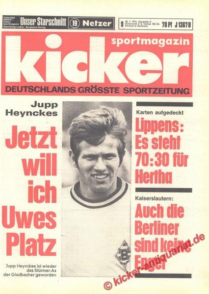 Kicker Sportmagazin Nr. 9, 28.1.1971 bis 3.2.1971