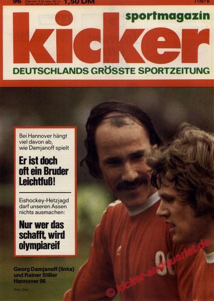 Kicker Sportmagazin Nr. 96, 1.12.1975 bis 7.12.1975