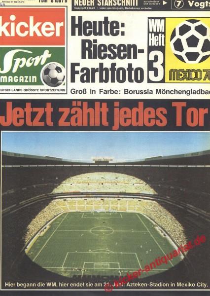 Kicker Sportmagazin Nr. 44, 1.6.1970 bis 7.6.1970