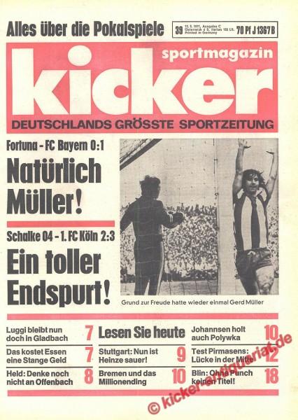 Kicker Sportmagazin Nr. 39, 13.5.1971 bis 19.5.1971