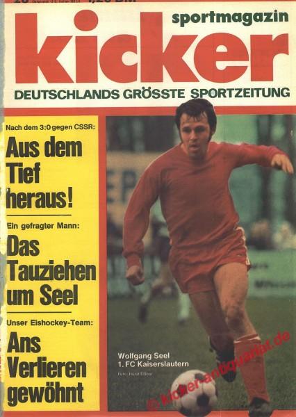 Kicker Sportmagazin Nr. 28, 2.4.1973 bis 8.4.1973