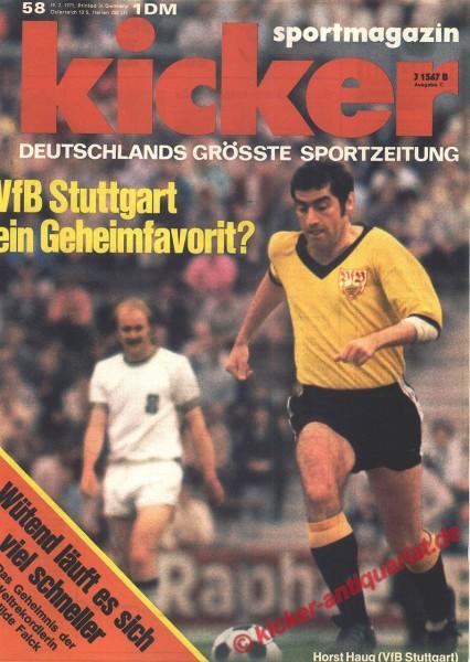 Kicker Sportmagazin Nr. 58, 19.7.1971 bis 25.7.1971