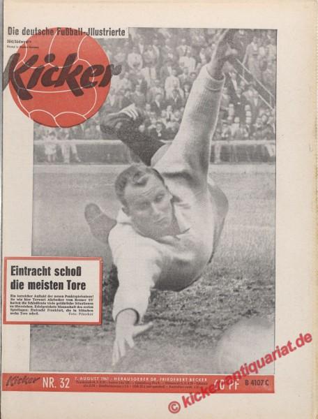 Kicker Nr. 32, 7.8.1961 bis 13.8.1961
