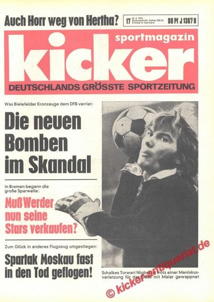 Kicker Sportmagazin Nr. 17, 22.2.1973 bis 28.2.1973