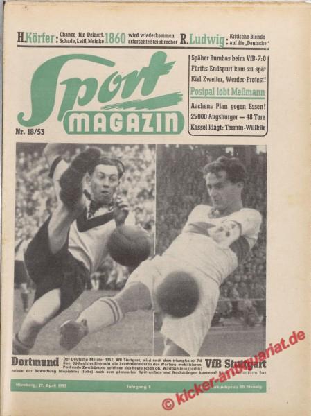 Sportmagazin Nr. 18A, 29.4.1953 bis 5.5.1953