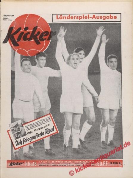 Kicker Nr. 18, 2.5.1960 bis 8.5.1960