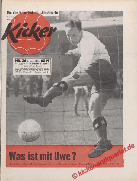 Kicker Nr. 36, 3.9.1962 bis 9.9.1962
