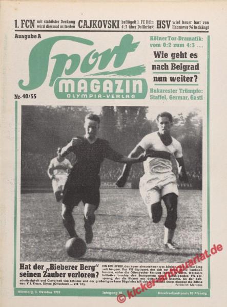 Sportmagazin Nr. 40A, 3.10.1955 bis 9.10.1955