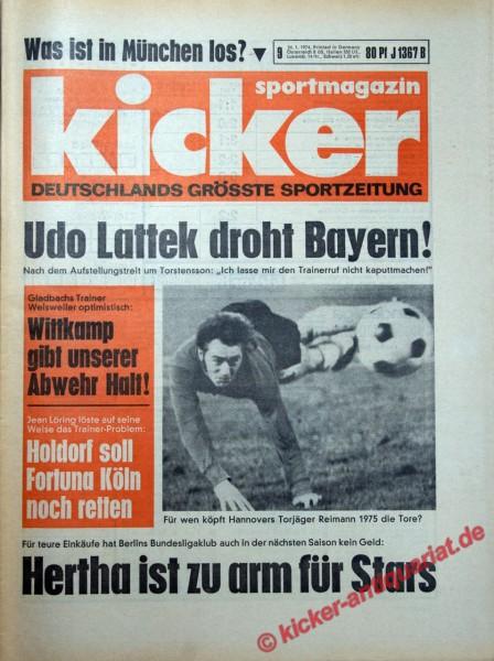 Kicker Sportmagazin Nr. 9, 24.1.1974 bis 30.1.1974