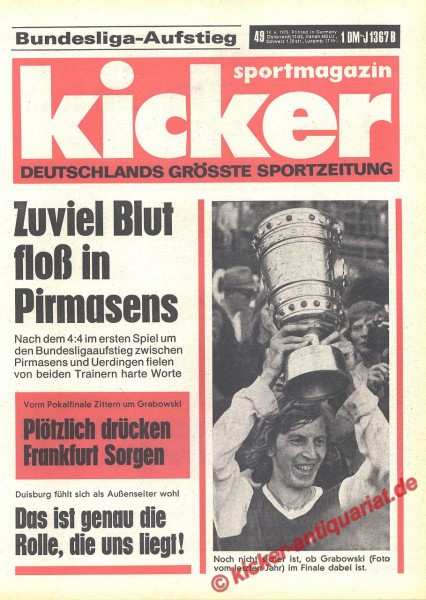 Kicker Sportmagazin Nr. 49, 19.6.1975 bis 25.6.1975