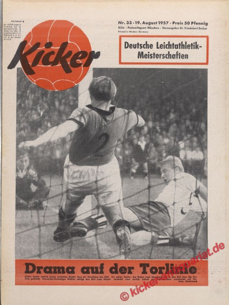 Kicker Nr. 33, 19.8.1957 bis 25.8.1957