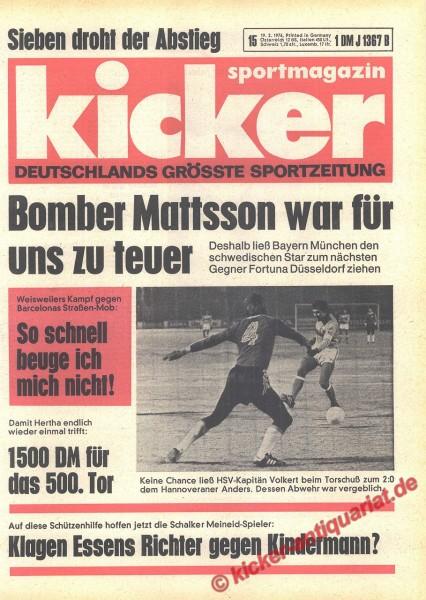 Kicker Sportmagazin Nr. 15, 19.2.1976 bis 25.2.1976