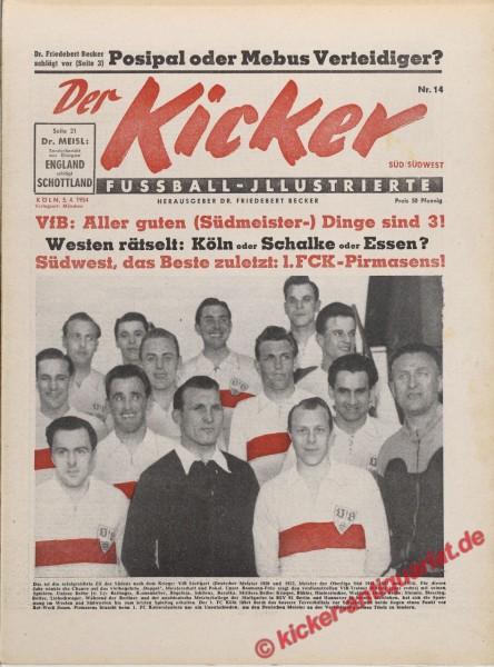 Kicker Nr. 14, 5.4.1954 bis 11.4.1954