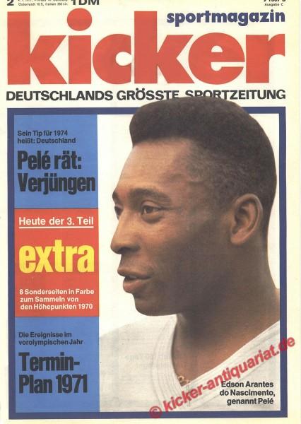Kicker Sportmagazin Nr. 2, 4.1.1971 bis 10.1.1971