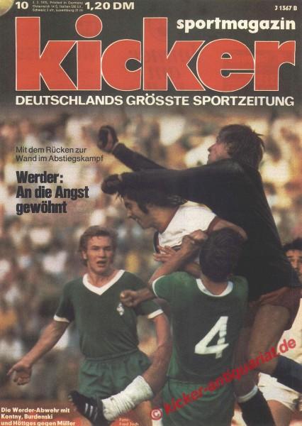 Kicker Sportmagazin Nr. 10, 3.2.1975 bis 9.2.1975