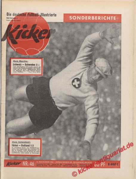 Kicker Nr. 46, 13.11.1961 bis 19.11.1961