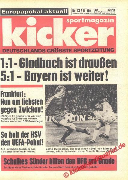 Kicker Sportmagazin Nr. 23, 18.3.1976 bis 24.3.1976