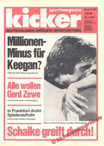 Kicker Sportmagazin Nr. 9, 25.1.1979 bis 31.1.1979