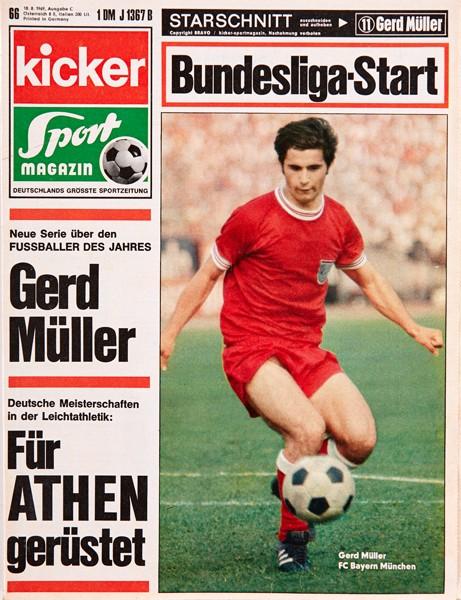 Kicker Sportmagazin Nr. 66, 18.8.1969 bis 24.8.1969