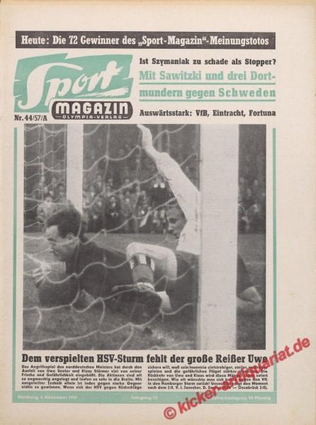 Sportmagazin Nr. 44A, 4.11.1957 bis 10.11.1957