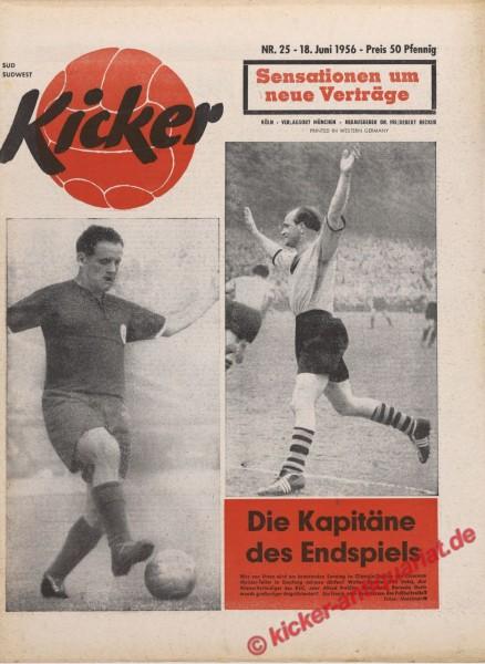 Kicker Nr. 25, 18.6.1956 bis 24.6.1956