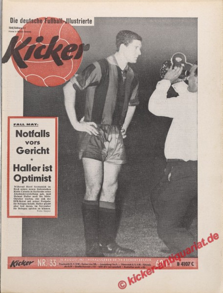 Kicker Nr. 33, 14.8.1961 bis 20.8.1961