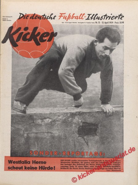 Kicker Nr. 15, 13.4.1959 bis 19.4.1959