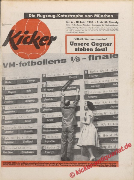 Kicker Nr. 6, 10.2.1958 bis 16.2.1958