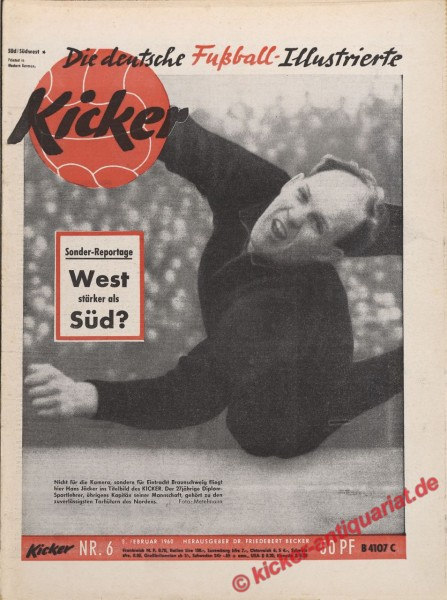 Kicker Nr. 6, 8.2.1960 bis 14.2.1960