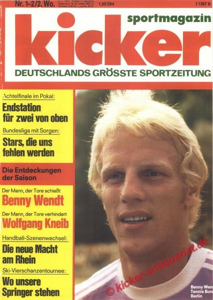 Kicker Sportmagazin Nr. 1, 3.1.1977 bis 9.1.1977
