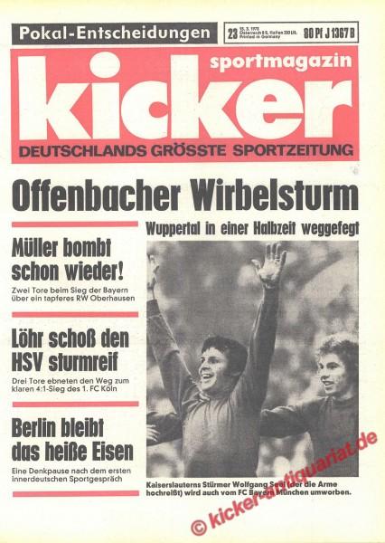 Kicker Sportmagazin Nr. 23, 16.3.1973 bis 22.3.1973