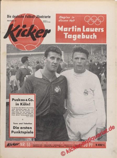 Kicker Nr. 33, 15.8.1960 bis 21.8.1960
