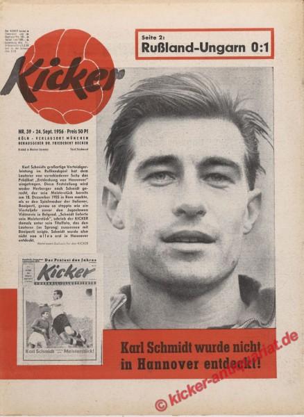 Kicker Nr. 39, 24.9.1956 bis 30.9.1956