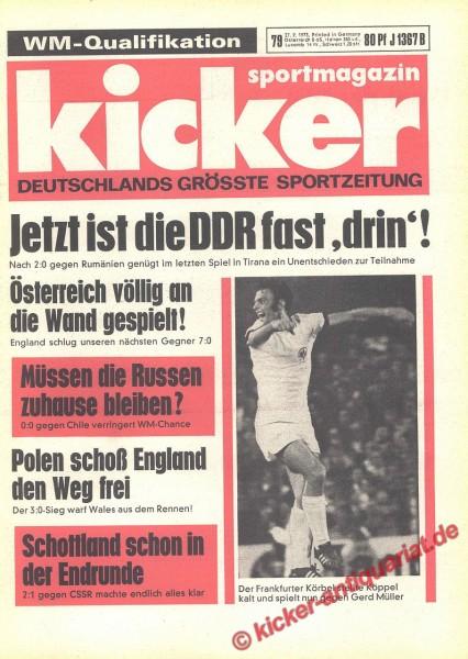 Kicker Sportmagazin Nr. 79, 27.9.1973 bis 3.10.1973