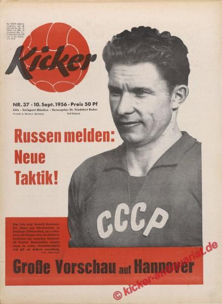 Kicker Nr. 37, 10.9.1956 bis 16.9.1956