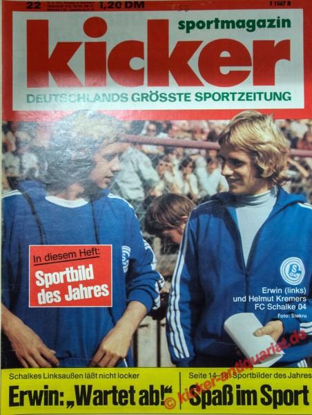 Kicker Sportmagazin Nr. 22, 11.3.1974 bis 17.3.1974
